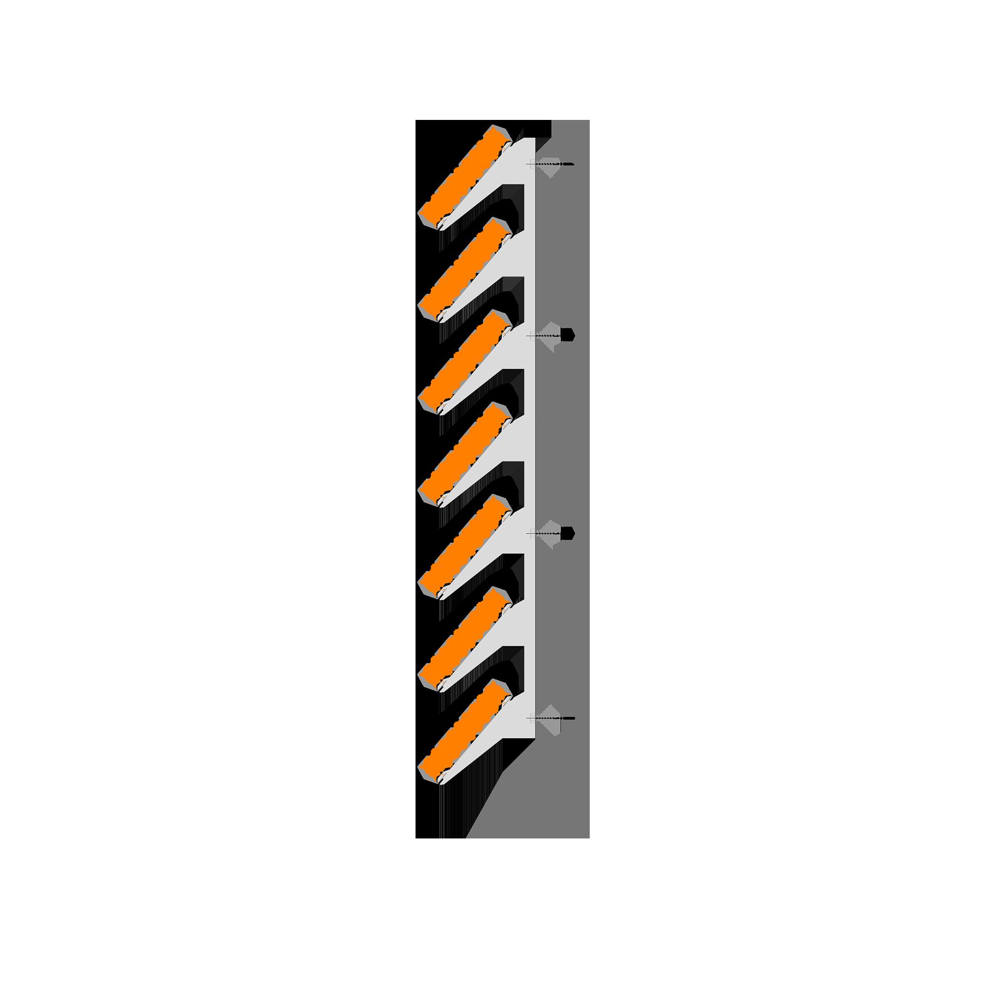 Żaluzje ME-2 i ME-3 - przekrój