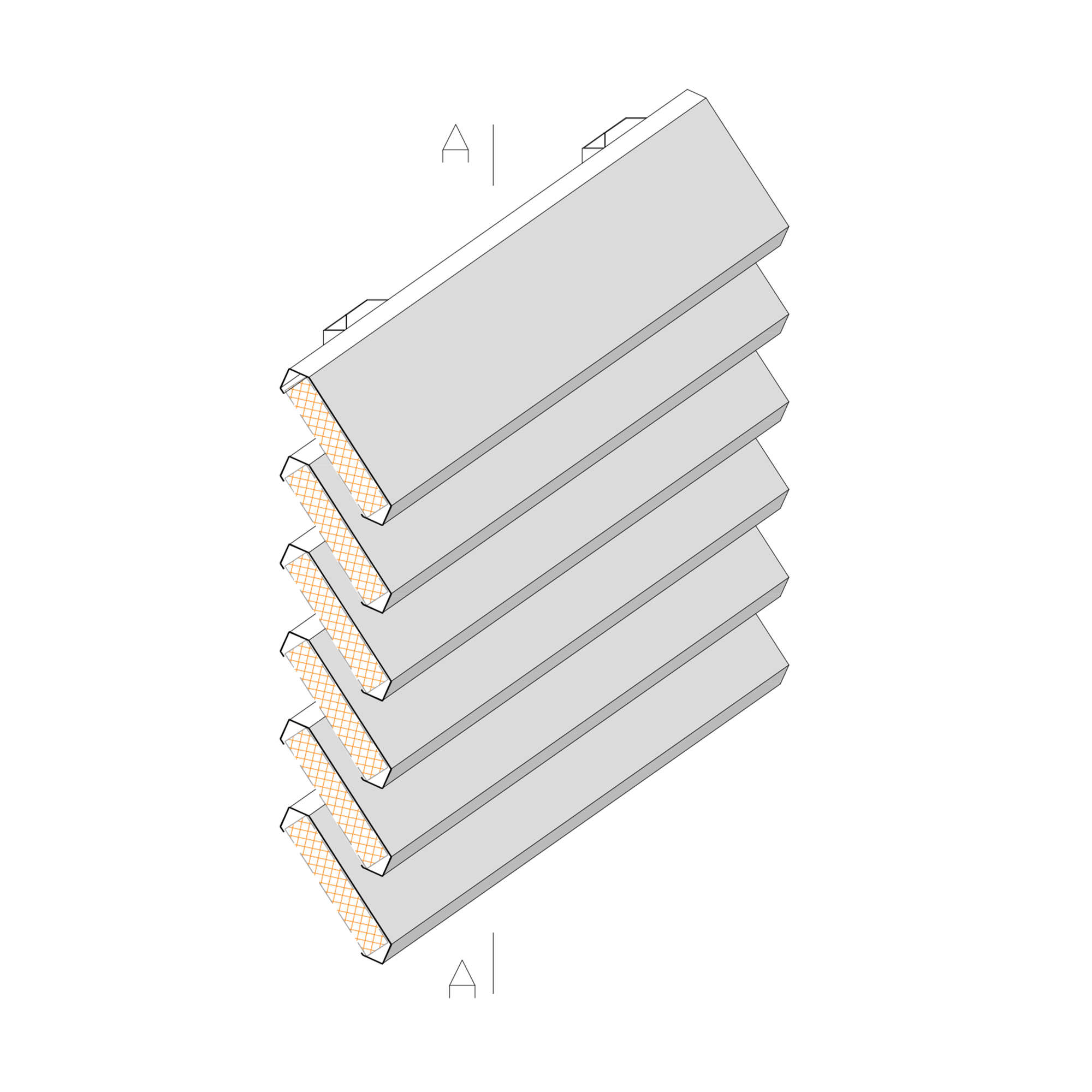 Żaluzje ME-5 - aksonometria