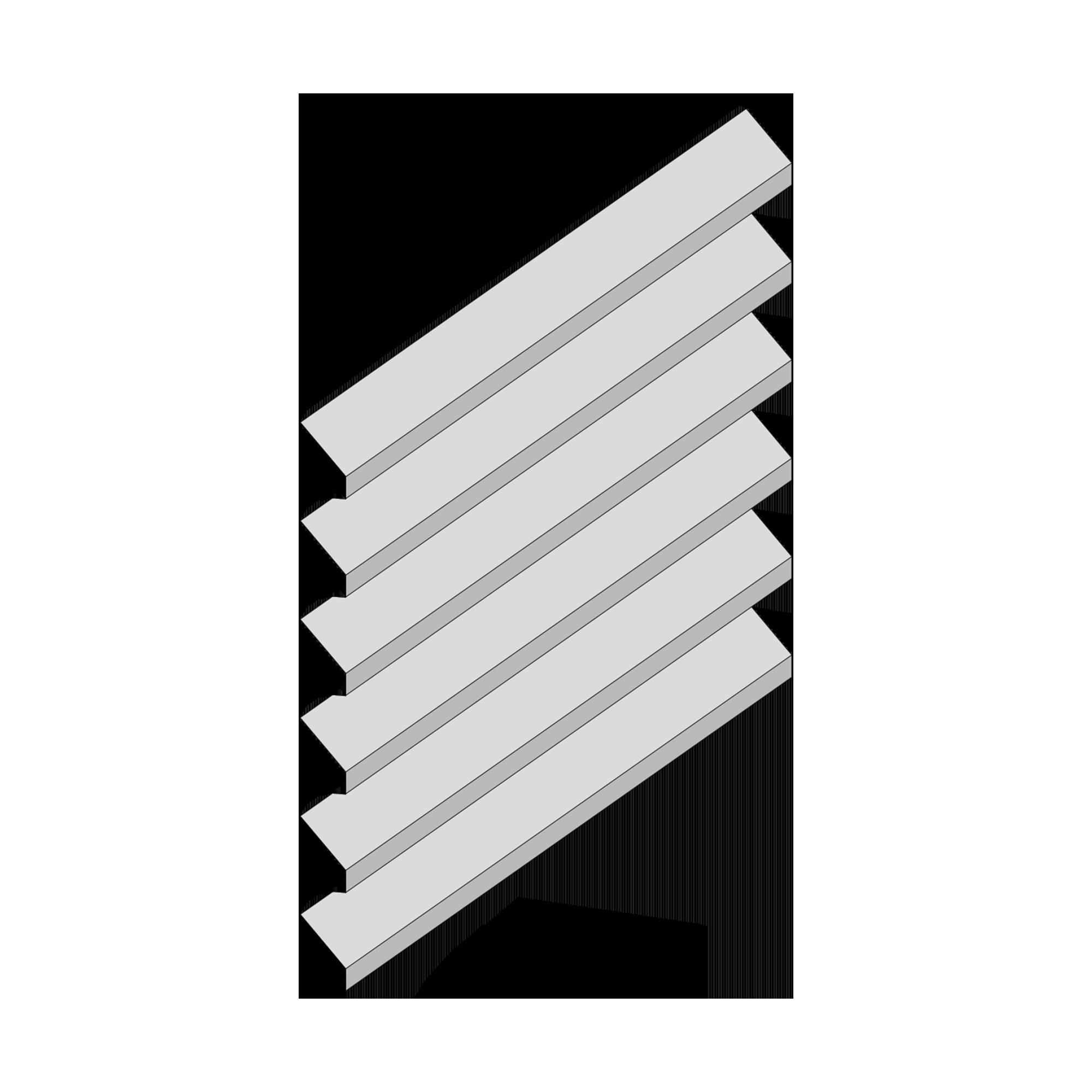 Żaluzje ME-6 - aksonometria